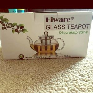 Other - NWT glass teapot with infuser stovetop safe